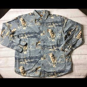 Magellan Mens XL Long Sleeve Button Fishing Shirt